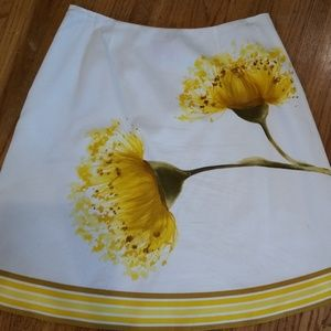 Summer Skirt with huge yellow flowers